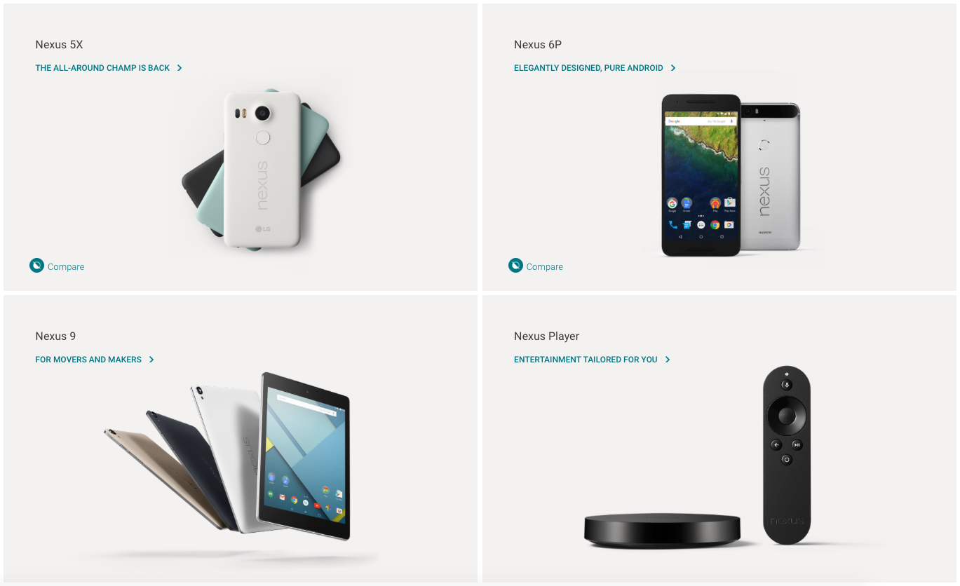How Google Nexus Line Up Should Work